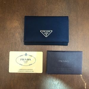 Prada wallet with certificate